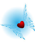 Vliegend hart Royalty-vrije Stock Foto