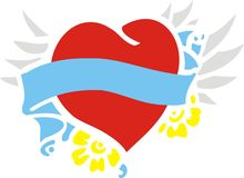 Vliegend hart Royalty-vrije Stock Afbeelding