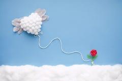 Vliegend hart stock afbeelding