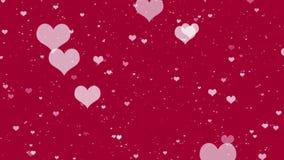 Vliegend Hart die op rode achtergronden verschijnen stock illustratie