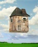 Vliegend huis stock fotografie