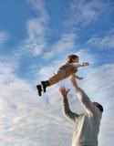 Vliegend kind Stock Afbeelding