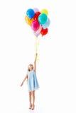 Vliegend meisje Royalty-vrije Stock Afbeeldingen