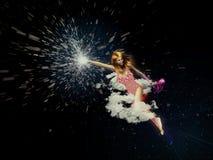 Vliegend meisje Stock Afbeelding