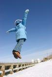 Vliegend meisje Royalty-vrije Stock Foto's