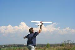 Vliegend model Stock Afbeelding