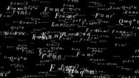 Vliegend in ruimte van formule, alpha- kanaal stock videobeelden