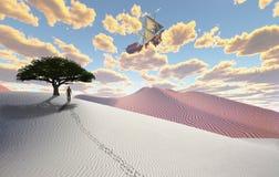 Vliegend Schip vector illustratie