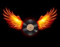 Vliegend Vinylverslag stock illustratie