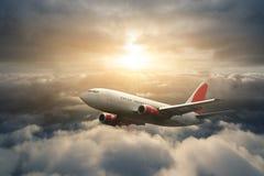 Vliegend vliegtuig Royalty-vrije Stock Fotografie