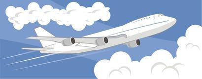 Vliegend vliegtuig Royalty-vrije Stock Foto's