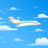 Vliegend vliegtuig Stock Afbeelding