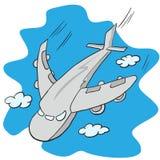 Vliegend vliegtuig Royalty-vrije Stock Afbeeldingen