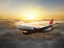 Vliegend vliegtuig Royalty-vrije Stock Foto