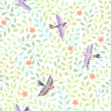 Vliegend vogelspatroon Stock Afbeelding