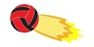 Vliegend Volleyballembleem Stock Afbeelding
