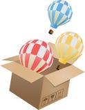 Vliegend voorwerp in karton doos-03 Royalty-vrije Stock Afbeeldingen