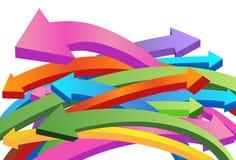 Vliegende 3D Pijlen Stock Foto