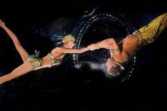 Vliegende Acrobaten Stock Foto's