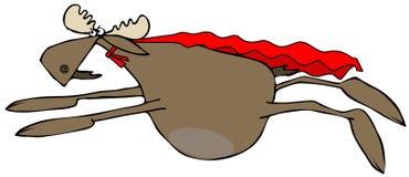 Vliegende Amerikaanse elandenheld Stock Afbeeldingen