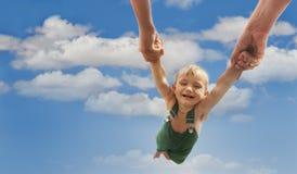 Vliegende baby Stock Afbeelding