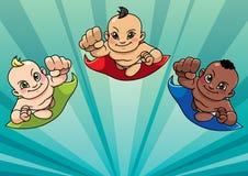 Vliegende Babysachtergrond stock illustratie