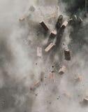 Vliegende bakstenen Royalty-vrije Stock Foto