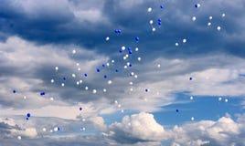 Vliegende ballons Royalty-vrije Stock Fotografie