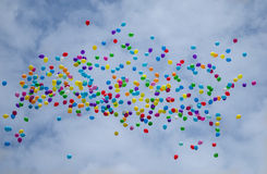 Vliegende ballons Royalty-vrije Stock Foto