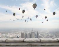Vliegende ballons Royalty-vrije Stock Foto's