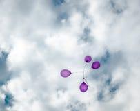 Vliegende ballons Stock Foto