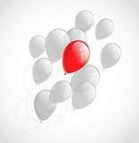 Vliegende ballons. Abstracte vectorachtergrond Royalty-vrije Stock Foto's