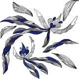 Vliegende bloemen royalty-vrije illustratie