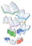 Vliegende Boeken Stock Foto's