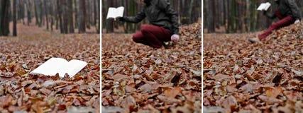 Vliegende boeken - stadia van het creëren Stock Fotografie