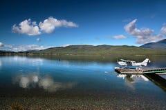 Vliegende boot op het Meer Te Anau royalty-vrije stock foto's