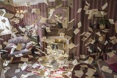 Vliegende Brieven van Harry Potter Movie royalty-vrije stock foto