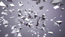Vliegende Chaotische Piramides Royalty-vrije Stock Foto's