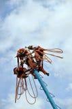 Vliegende Dansers in Tulum Mexico Royalty-vrije Stock Afbeelding