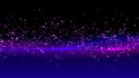 Vliegende deeltjes als achtergrond stock footage