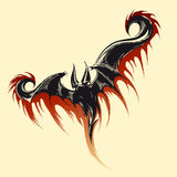 Vliegende Demonschets royalty-vrije illustratie