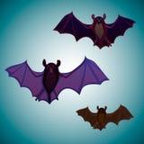 Vliegende die knuppels op licht worden geïsoleerd royalty-vrije illustratie