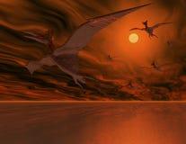 Vliegende dinosaurussen stock illustratie