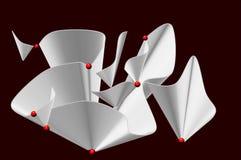 Vliegende Document en ballen vector illustratie