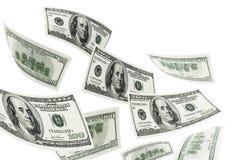 Vliegende Dollar Royalty-vrije Stock Foto's