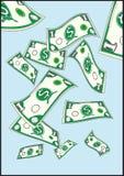 Vliegende dollars Royalty-vrije Stock Foto's