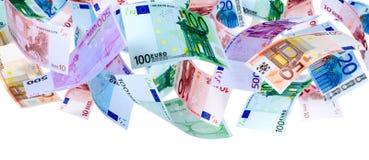 Vliegende Euro stock afbeelding