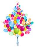 Vliegende geïsoleerde ballons Stock Foto's