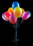 Vliegende geïsoleerdee ballons Royalty-vrije Stock Afbeeldingen