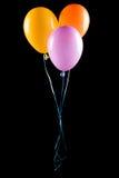 Vliegende geïsoleerdee ballons Stock Afbeelding